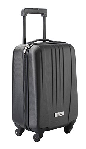 Cabin Max Black ABS spinner 4 wheel hard case- Carry on 18' flight trolley bag