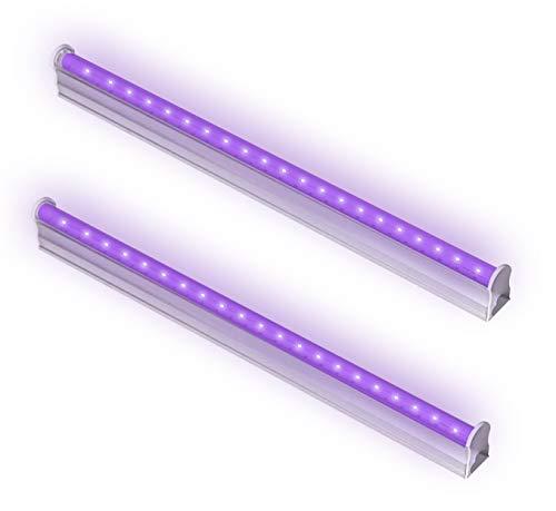 6W Schwarzlicht UV LED Bar Stromversorgung über USB, 395nm Black Light Lichteffekt Partylicht Bühnenbeleuchtung mit Schalter, für Weihnachten Halloween Club Party Karneval Disco Ballsaal 2pcs
