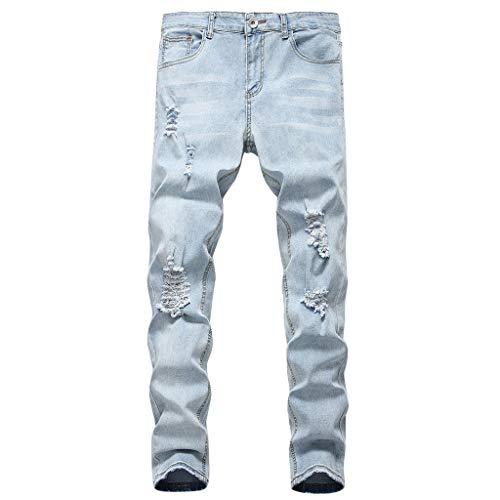 Pantalon de Travail personnalité Homme Pantalon Droit Homme Jeans déchirés pour Hommes Pantalon Coupe Slim Trousers Utilisé pour Les travaux Scolaires et Les Jeux