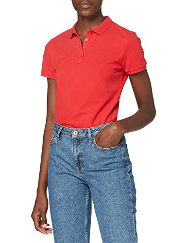 Wrangler Slim Polo, Lollipop Red, L para Mujer