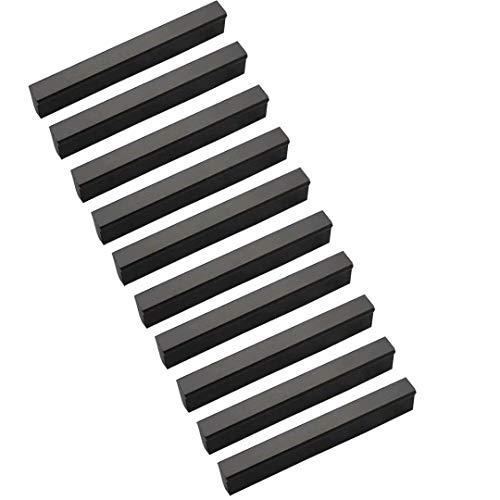 Margueras - 10 tiradores de armario de cocina, mueble cajón de dormitorio, puerta (96 mm, negro)
