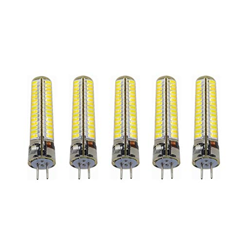 Liyuzhu Bombilla LED GY6.35 6 vatios CA/CC 12V-24V Bombillas LED de reemplazo de halógeno 50W G6.35 / GY6.35 / GY6.35 Base Bipolar. Paquete de 5 no Regulable (Color : Warm White)