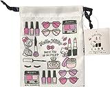 Sanrio Hello Kitty Purse Drawstring Bag Mini Polyester 14 × 18.5cm (White)