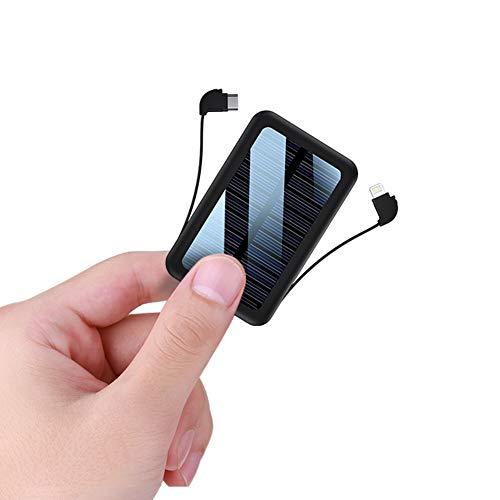 Pixier Cargador Solar 20000mAH Alta Capacidad, Portátil Inalámbrico USB Banco de Energía Solar con 3 Salidas, Rápida Batería Externa para iPhone Samsung iPad y para Acampadas/Senderismo Camping