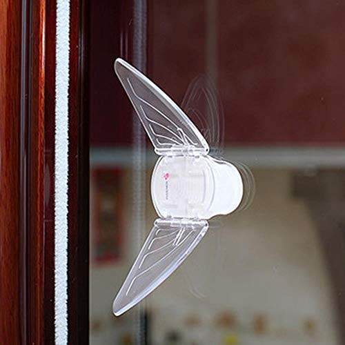 FTFSY 3Pcs Baby Safety Lock for Sliding Door Window Children Protection Lock Drawer Cabinet Door Wardrobe Anti-Pinch Wings Kids Safety Lock,3PC