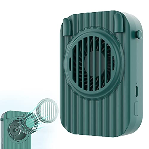 YONGCHY Mini Ventilador portátil con batería Recargable de 1200 mAh, Ventiladores de Mango Personal de 3 velocidades Ventilador eléctrico USB para Interiores y Exteriores para Oficina,Verde