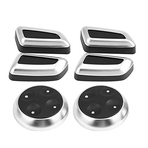 EXID 6 uds perilla de ajuste de asiento de coche botón interruptor embellecedor de tapa para Audi A3 A4 A5 A6 Q3 Q5 ABS
