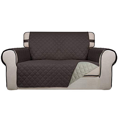 PureFit Funda de sofá acolchada reversible, derrame, resistente al agua, protector de muebles, funda de sofá lavable con espuma...