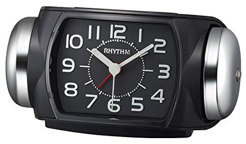 リズム(RHYTHM) 目覚まし時計 大音量 ベル音 アラーム バックライト付き 連続秒針 8RA647SR02