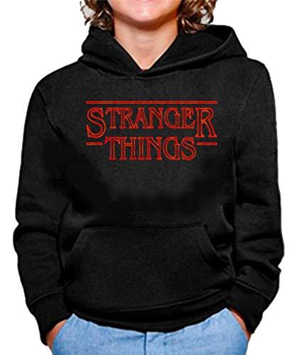 Sudadera de NIÑOS Stranger Things Once Series Retro 80 Eleven Will 004 9-11 Años