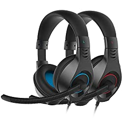 in budget affordable SENIC C 2-pack gaming headset with microphone for PS4, 3.5 mm headphones for Xbox One, PC …
