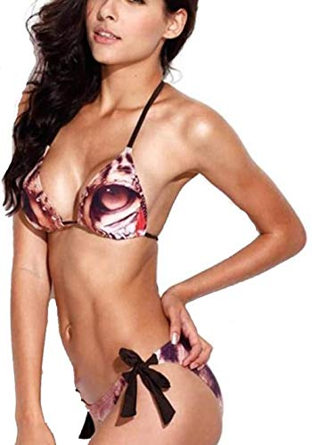Sexy Women's One Piece Swimsuit Leopard Print Volledige Back Strap Badpak Bikini Set, Maat: XL (Size : S)