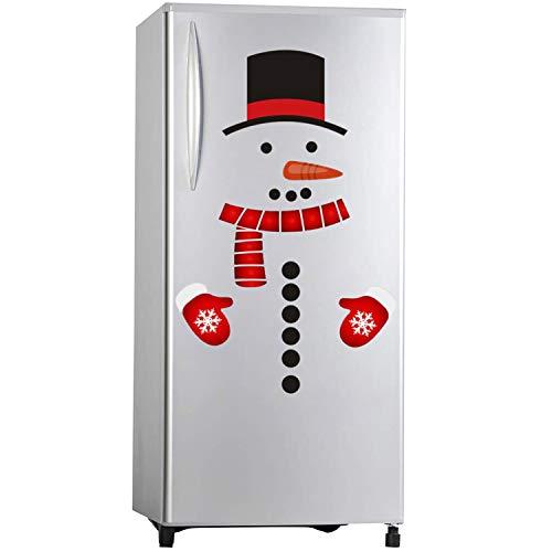 De feuilles Weihnachten Schneemann Kühlschrank Aufkleber Kühlschrank Aufkleber PVC haftenden Abziehbilder Weihnachtsschmuck