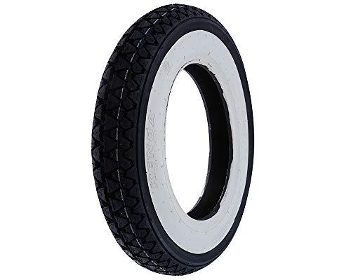 1 neumático Kenda K 333 con banda blanca DOT 2016, tamaño 3,50-10 51J 4PR para Piaggio Vespa PX 125 150 200.