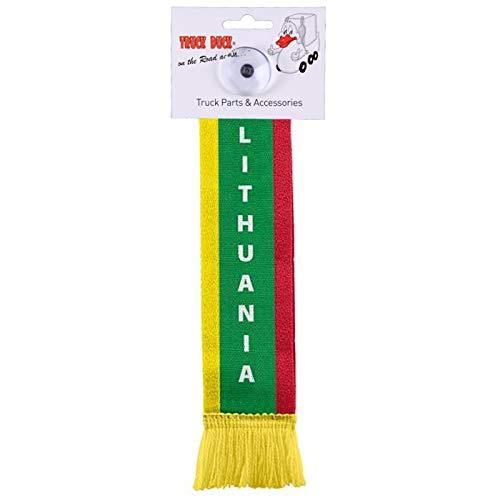 TRUCK DUCK® LKW Auto Minischal Lithuania Litauen Mini Schal Wimpel Flagge Fahne Saugnapf Spiegel Deko