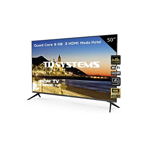 Televisor Led 50 Pulgadas Ultra HD 4K Smart, TD Systems K50DLX9US. Resolución...