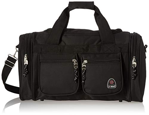 Rockland Duffel Bag, Black, 18.5 in X 10.5 in X 8.5 in
