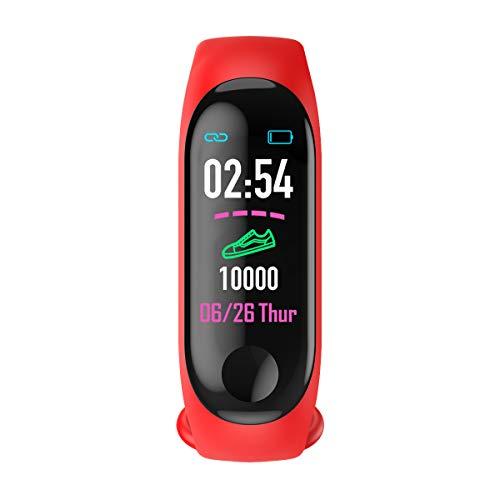 M3 Orologio Fitness Watch Smartwatch Uomo Donna Contapassi Cardiofrequenzimetro Controllo Notifiche Contacalorie Controllo Veglia Pressione Sanguigna Sleep Training Assistant Impermeabile Bluetooth