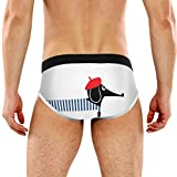 REFFW Stretch Boxer Trunk Bulge Pouch Slip Homme Chiens Chats