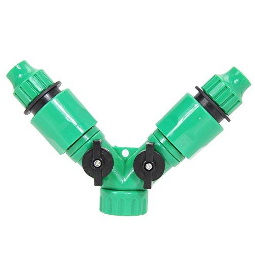 Demiawaking Tubo rubinetto a 2vie splitter per rubinetto da giardino con 2connettori femmina con...