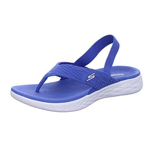 Skechers On-The-Go 600-Beach Day 16193/BLU Damen Sandalette, Größe 40