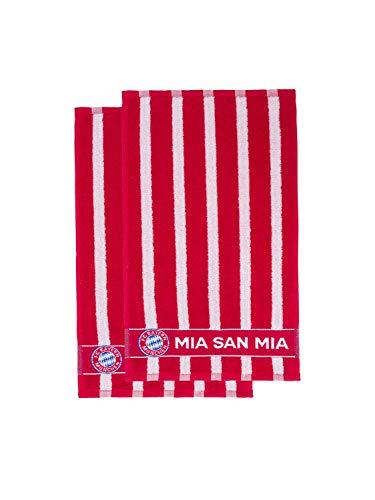 FC Bayern München Gästetuch 2er Set Mia san mia 50x30cm