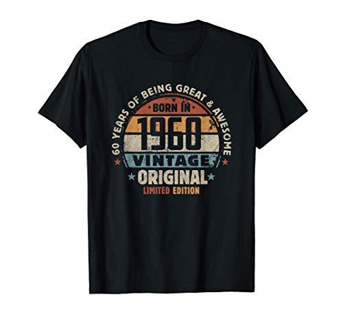 Regalo de cumpleaños número 60 Nacido en 1960 Original Camiseta