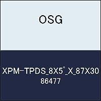OSG テーパエンドミル XPM-TPDS_8X5゚_X_87X30 商品番号 86477