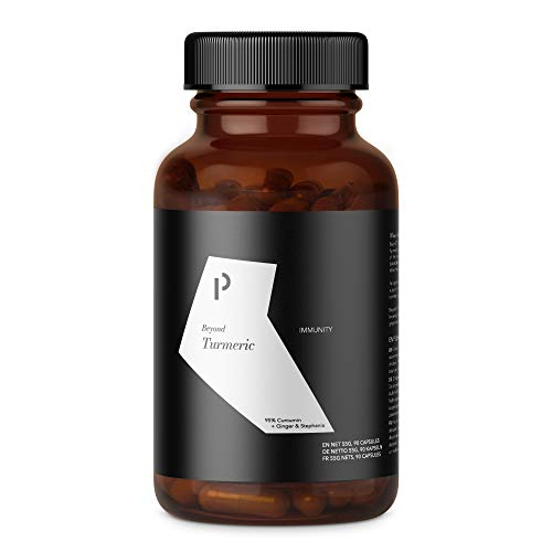 90 Curcuma Complex Capsules I Curcumin Content of ONE Capsule is Equivalent to 16,000 mg Turmeric (3 Month Supply) High Strength Turmeric 95% Extract with Ginger, & Stephania I Made in Germany