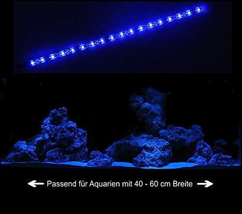 creative lights - Licht & Design Aquarium Mondlicht 30 cm LED LICHTLEISTE Komplettset INKL. NETZTEIL Flexi-Slim BLAU
