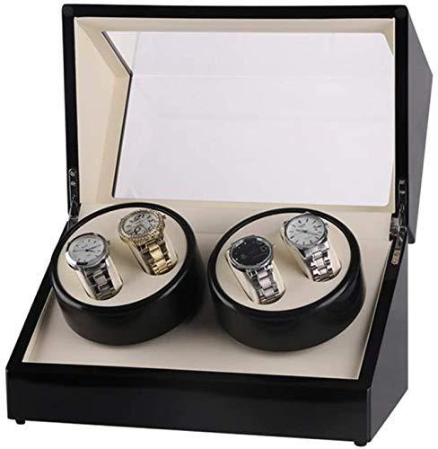 FEE-ZC Watch Box, Watch Winder Shake Table Device Caja de Reloj de Cuerda automática eléctrica, Motor Box 4 + 0 Shaker eléctrico Caja de Reloj de Doble Cabeza,