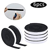 Xgood 59.1 Feet BBQ Gasket Smoker Grill Tape High Temp Grill Seal Tape Black Self Stick Gasket 1/8 Inch Thickness,0.5 Inch Wide(6 Pieces)