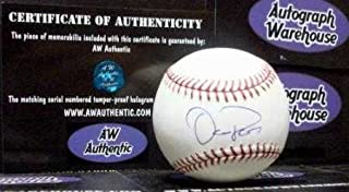 Oliver Perez autographed baseball (Washington Nationals pitcher Mets Pirates) AW Certificate of Authenticity Hologram OMLB
