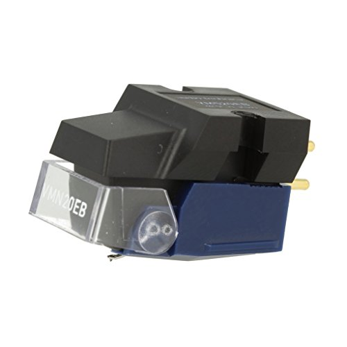 Audio Technica VM520EB Dual Moving Magnet Phono Cartridge with Elliptical Stylus 1/2' Mount includes mounting hardware (Black/Blue)