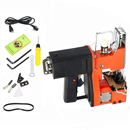 Yaetek 110V Industrial Portable Electric Bag Stitching Closer Seal Sewing Machine Closing Sealing Stitcher with Accessories