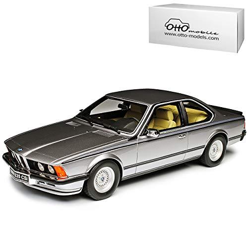 B-M-W 6er 635 CSI E24 Coupe Silber 1975-1989 Nr 313 1/18 Otto Modell Auto mit individiuellem Wunschkennzeichen