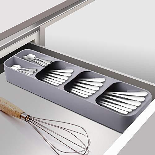 Best Design Drawer Organizer Tray Rack Spoon K Storage Box Space Saving Home Gadgets, Knife Drawer Organizer - Plastic Flatware, Silverware Wooden, Plastic Draw Organizer, Kitchen Utensils Organizer