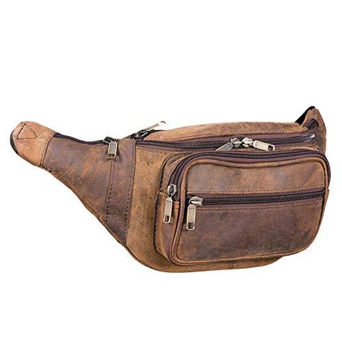 STILORD 'Maverick' Leder Bauchtasche Gürteltasche Umhängetasche Hüfttasche Kameratasche Handy Reise Festival Trekking Damen Herren weiches Leder, Farbe:Colorado - braun