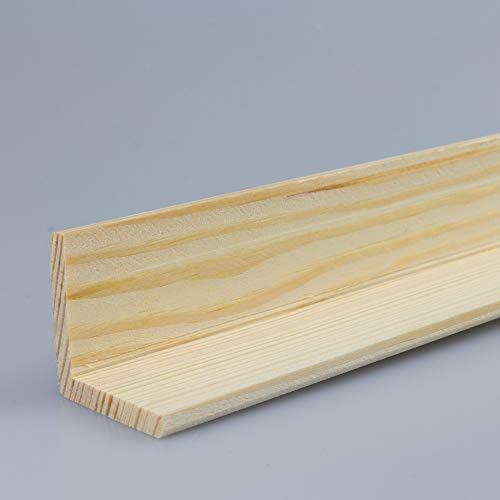 Winkelleiste Schutzwinkel Winkelprofil Tapeten-Eckleiste Abschlussleiste Abdeckleiste aus Kiefer-Massivholz 2400 x 33 x 33 mm