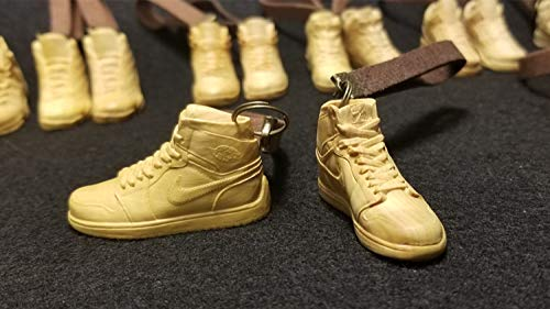 LIAOLEI10 sculptuur Mini Hout beeldje Schoenen Sneaker A1 Speelgoed Retro Miniatuur sculptuur schoen simulatie modern met Touw