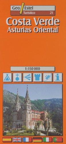 ASTURIAS ORIENTAL-COSTA VERDE (MAPA TURÍSTICO): No. 21 (Ciudades. Planos/Guia)
