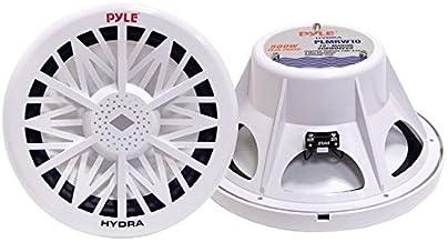 Pyle PLMRW8 8-Inch Outdoor Marine Audio Subwoofer – 400 Watt Single White..