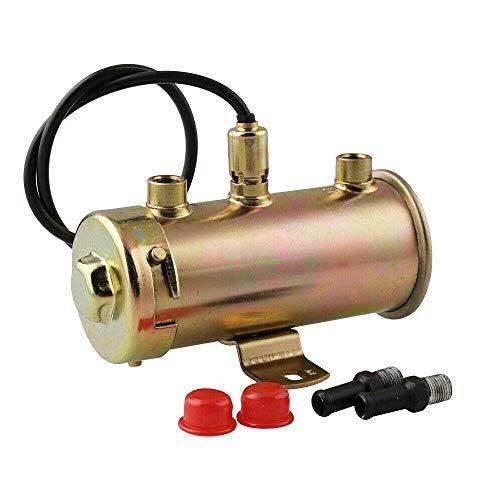 Universal Electric Fuel Pump, 12 Volt, 4-5 PSI, Copper Design for Automobile, Aftermarket Compatible with Part Number 27149-2093 149-1828, See Description for More Detail on Compatibility
