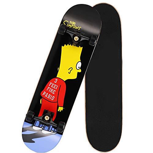 MUXIA 6-12歳の子供/男の子/女の子/青少年/大人(アクション+ AI XPSON)31インチのプロのスケートボードのフルバージョン