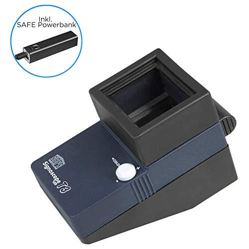 SAFE 9893 Signoscope T3 - Comprobador de marcas de agua con 3 ledes regulables y 8 colores diferentes (9893 + 9894)
