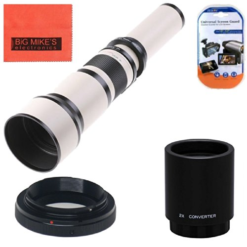 Long-Range 650mm-2600mm f/8 Telephoto Zoom Lens for Nikon DF, D3100, D3200, D3300, D5000, D5100, D5200, D5300, D5500, D7000, D7100, D7200, D300s, D600, D610, D700, D750, D800, D800e, D810, SLR Camera