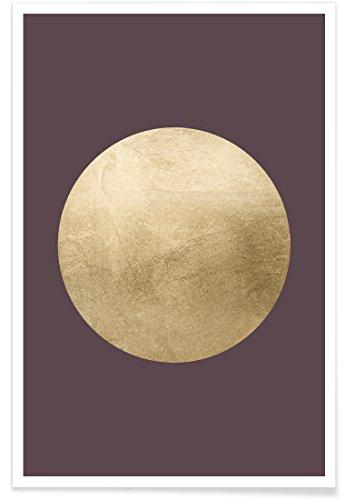 """JUNIQE® Abstrakt & Geometrisch Poster 40x60cm - Design """"Au"""" entworfen von LEEMO"""