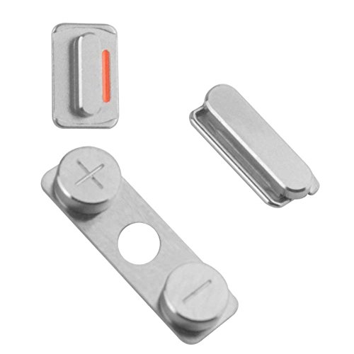 Ilovemyphone Kit Boton Juego de Botones Encendido Volumen y Silencio para iPhone 4, 4G y 4S