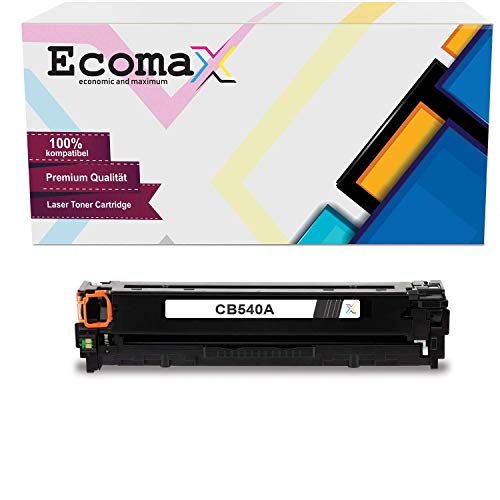 Ecomax Toner kompatibel zu HP CB540A 125A für HP Color Laserjet CP 1515N CM1312 CM1312NFI MFP CP1515NI CP1500 Series CP1517 CP1518NI - Schwarz 2.400 Seitenkapazität
