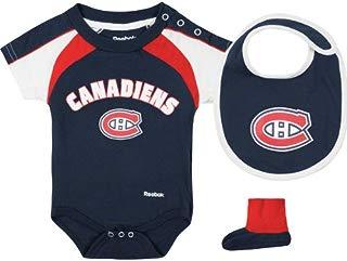 Montreal Canadiens Reebok Navy Creeper Bib Bootie Newborn Set